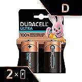 Duracell Ultra, lot de 2 piles alcalines type D 1,5 Volts, LR20 MN1300 (visuel non contractuel)