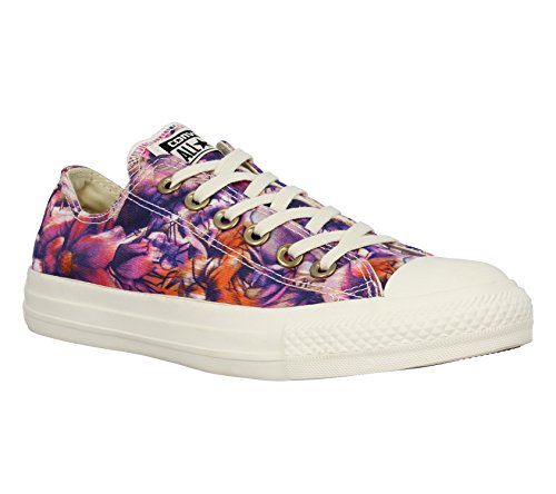 Converse Chuck Taylor All Star Ox, Unisex-Erwachsene Sneaker Violett - Gelb - Rot