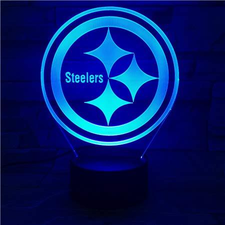 Steelers 3D LED Nachtlicht mit 7 Farben Licht für Hauptdekoration Lampe Erstaunliche Visualisierung Optisches Weihnachtsgeschenk für Papa GX-516 LHDOVIS