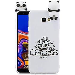 130108a09b5 HopMore Silicona Funda para Samsung Galaxy J4 Plus (J4+) 2018 Dibujo 3D  Unicorn Panda