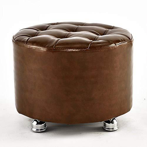 CWJ Stühle Hocker, Hocker Volltonfarbe Schuhe Mode Sofa Schuhe sitzt Dressing Massivholz Adult Home Convenient Hocker,Braun -