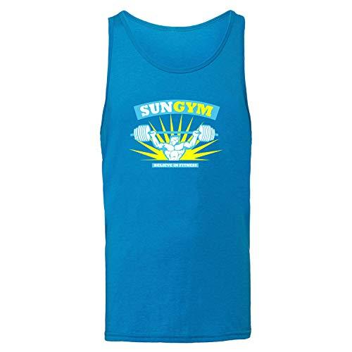 f82d141dec1d21 Sun Gym Camiseta Interior, Azul, Stringer Camiseta Interior, ventajas y Las  desventajas,