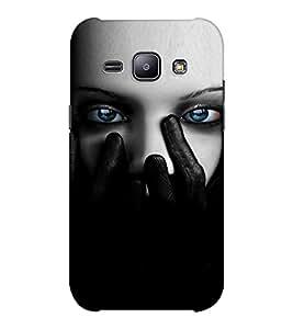 EPICCASE Scary Girl face Mobile Back Case Cover For Samsung J1 Ace (Designer Case)