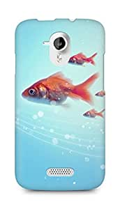 Amez designer printed 3d premium high quality back case cover for Micromax Canvas HD A116 (Pure Simple Underwater Goldfish Swimming)