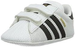 Adidas Unisex Babies' Superstar Crib Gymnastics Shoes, White (Ftwr White/Core Black/Ftwr White), 17 EU, 1K UK