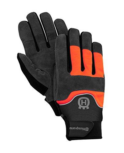Husqvarna Technical Light Gartenhandschuhe Leder schwarz, Polyester, Orange