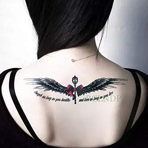Ljmljm 3 pezzi adesivi per tatuaggio impermeabili ali lettera inglese tatto tatoo gamba posteriore braccio pancia pancia grande formato per donna uomo ragazza