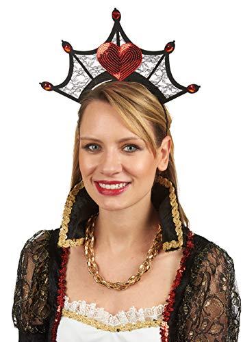 Der Karte Königin Kostüm Herz - Andrea-Moden 3894101 Haarreif Herz-Dame, Mehrfarbig