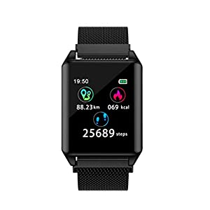 A-Artist SmartArmband Sportuhr Bluetooth 1,22 Zoll Farbbildschirm Fitness Armband mit Pulsmesser Tracker Smart Watch Allround multisportuhr mit Schrittzähler Pulsuhr iOS und Android Watch