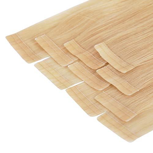 Tape In Extensions 40 cm Virgin Echthaar 10er Set Haarverlängerung Haarteile in mittelblond