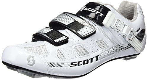 SCOTT Road Pro Zapatillas, Unisex Adulto, Blanco/Negro, 45
