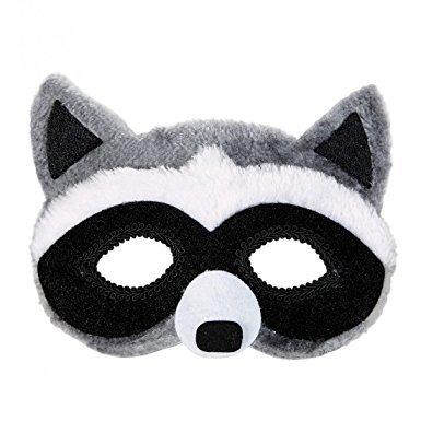 Generique - Waschbär Augenmaske mit Fell für Erwachsene