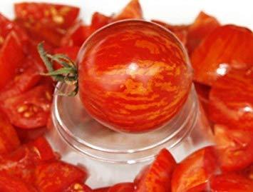 ANVIN Keim Seeds: 5 Sätze von 25 Samen Red Zebra-Bio-Tomaten-Samen