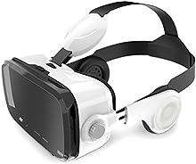 Leelbox 3D VR Gafas Realidad Virtual VR Box con Auriculares Vr Headset con Lente Ajustable y Correa puede Responder a la Llamada, Volumen Ajustable Compatible con iPhone, Samsung, LG & Otros 4.0 -6.0 Pulgadas Teléfonos Inteligentes