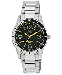 Q&Q Standard Analog Black Dial Mens Watch Q556J215Y