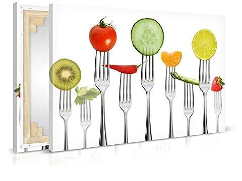 Leinwandbild Big Diet - Fertig Aufgespannt - Gemälde, Kunstdruck, Wandbild, Keilrahmen, Bild auf Leinwand von Trendwände - Format: 90x60cm, Standard: Vlies-Leinwand 2cm Rahmen