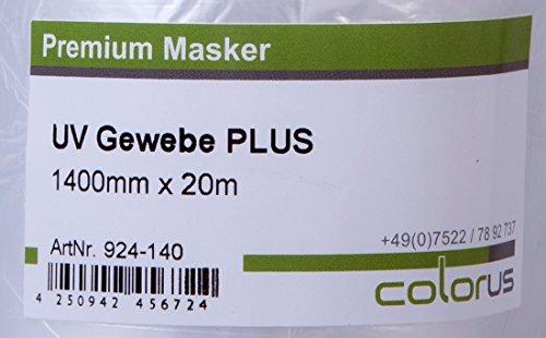 6 x Colorus Masker Tape UV Gewebe 140cm x 20m Cover Quick Abdeckfolie Maskerband in Spitzenqualität, für raue Untergründe