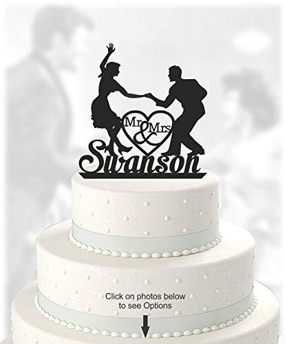 für Hochzeitstorten, tanzendes Paar, mit Aufschrift