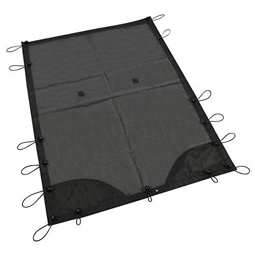 OOFIT Sonnenschutz Eclipse Top Cover Netz Sonnenschirm Voll Dach UV Schutz für 2007-2017 Jeep Wrangler JK 4-Door Models, Polyester weich Platte (Polyester Model)