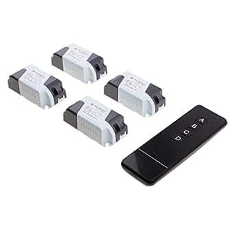 magideal 4pcs interrupteur t l commande t l commande ac85 250v commerce industrie. Black Bedroom Furniture Sets. Home Design Ideas