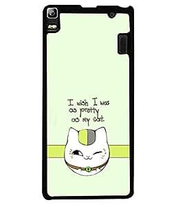 PrintVisa Designer Back Case Cover for Lenovo A7000 :: Lenovo A7000 Plus :: Lenovo K3 Note (Pet Love Cat Love)