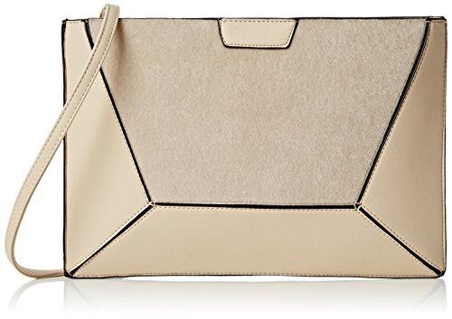 SwankySwans - Lydia Fur Pu Leather Crossbody Day Clutch Bag, Sacchetto Donna Beige (Beige)