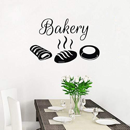 zxddzl Adesivi da Parete per panetteria Adesivi Decorativi da Cucina Impermeabili Pane Cibo Home Decor Stickers murali…