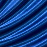 Satin Stoff B1 schwer entflammbar Meterware Royal-Blau