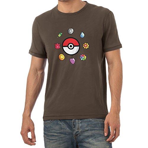 TEXLAB - Poke Gems - Herren T-Shirt Braun