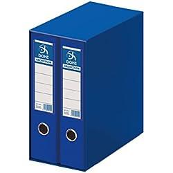Dohe Archicolor - Módulo 2 archivadores folio lomo ancho, color azul