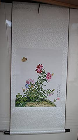 Oridental Art Framed Hanging Scroll Hand Painted Chinese Brush Claborate-style