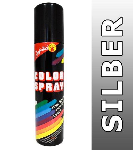 NET TOYS Farb Spray Silber Haarspray Colorspray Haarcoloration Farbspray Haare Fasching Haarsprays Colorsprays Haarcolorationen