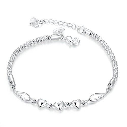 Faysting EU gioielli donna braccialetti bracciale cuore ale figura buon regalo natale san valentino argento
