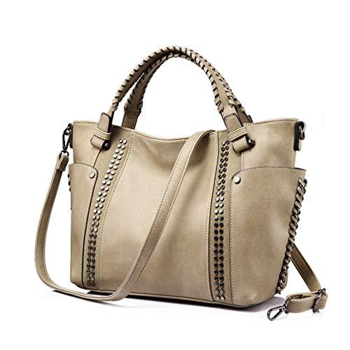 Juicy Couture Tote Handtasche (Frauen Handtaschen Leder Totes Schulter Umhängetasche Camel LargeOne Size)