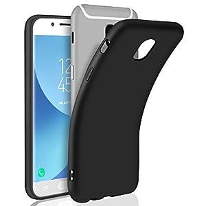 Cover Galaxy J5 2017, AROYI Cover J5 2017 Samsung Nero Silicone Case Molle di TPU Morbido Anti Scivolo Custodia Protezione Posteriore Antiurto Custodia per Samsung Galaxy J5 2017