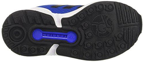 adidas Zx Flux, Sneaker Bas du Cou Mixte Enfant Bleu (Blue/core Black/ftwr White)