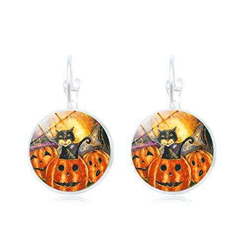Blisfille Ohrringe Halloween Besen Hexe Zeit Edelstein Ohrringe Mode Quaste Ohrstecker Ohrschmuck Herren Damen Fest (Halloween Werwolf-mädchen Kostüm)