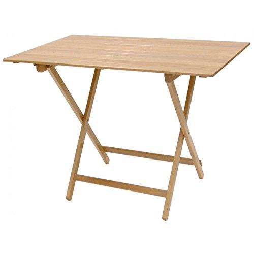 Tavolo tavolino pieghevole birreria legno naturale richiudibile campeggio giardino casa (60_x_100_cm)