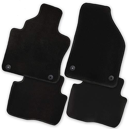 Bär-AfC FI05576 Premium Auto Fußmatten Velours Schwarz | Rand Kettelung Schwarz | Set 4-teilig | Passgenau für Modell Siehe Details - Autoteppich, 500 Fiat Fußmatte