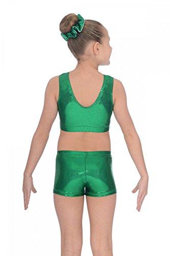 Brassière Chic en nylon élasthanne métallique Green