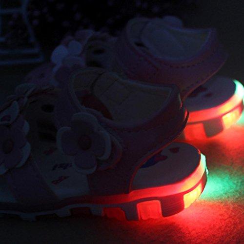 Rot Schuhe rutsch Blumen Kleinkind Baby Sandalen Paar 1 Soft Sneaker Igemy Sole Casual Anti RYqOOw