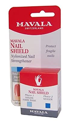 Mavala Nail Shield Protects and Reinforces Fragile Nails 5ml Pack of 2