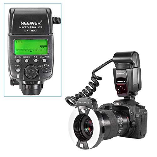 Neewer Flash Macro Ring Light con Luce di Assistenza AF per Canon EOS 5D Mark II EOS 6D EOS 7D EOS 70D EOS EOS 60Da EOS 700D 650D 350D 300D 1000D