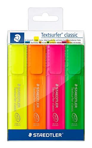 STAEDTLER 364PWP4 - Estuche 4 marcadores fluorescentes