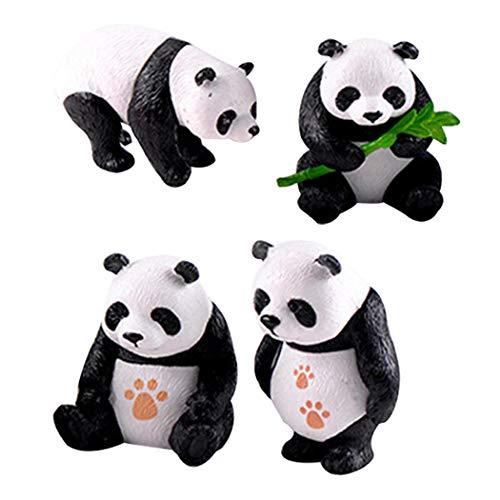 JUSTDOLIFE 4 STÜCKE Micro Landschaft Ornament Niedlichen Panda Miniatur Landschaft für Dekoration
