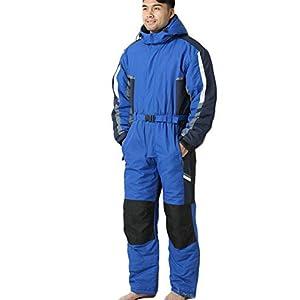X-xyA Skianzug Für Männer, Erwachsene One Piece Schnee Anzug Ski-Snowboard-Wear-Winter-Warme wasserdichte Ski-Overall Mit Kapuze