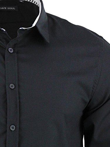 Brave Soul - Chemise casual - Homme Noir