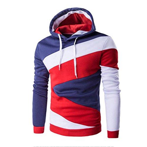 Herren Jacke Kapuze Hoodie Sweatshirt Amlaiworld Kapuzenpullover Sweatshirt Tops Jacke Mantel Outwear (M, Blau)