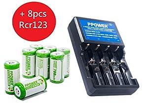 tarifas envios internacionales: PPOWER 3.7V 4 Ranuras Arlo Batería Cargador Rápido y 700mAh RCR123A Li-Ion Bater...