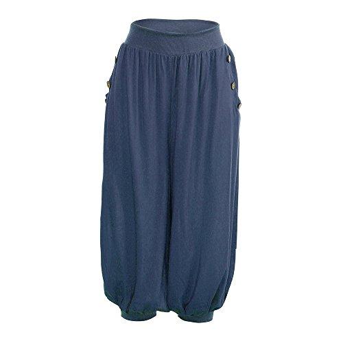 Bloom Dark Kostüm - YWLINK Damen Kleidung,Frau Elastisch Taille Boho PrüFen Hose Ausgebeult Wide Leg Sommer LäSsiger Yoga Bloom Hosen